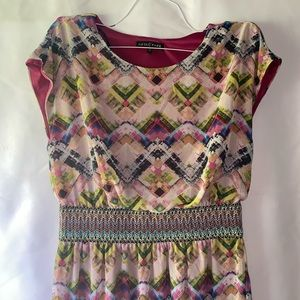 Fifth & Park   Colorful Short Sleeve Dress